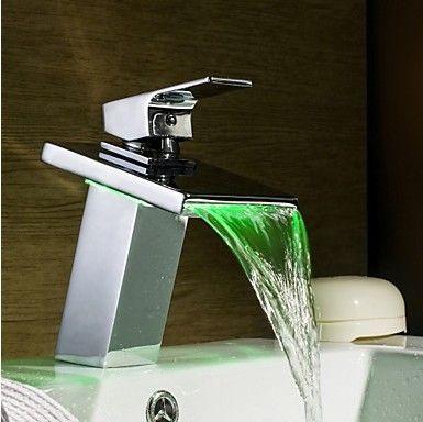 медь раковина самостоятельно- мощности света цвет chaning датчик температуры ванной кран привело кран смеситель  привело привело умывальником смеситель смесители ванная сифон водопад смеситель для раковины кухня