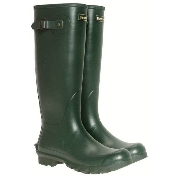 Women's Barbour Country Classic Wellington - Green (1,645 MXN) ❤ liked on Polyvore featuring shoes, boots, green wellington boots, green boots, wellies shoes, wellington boots and dog shoes