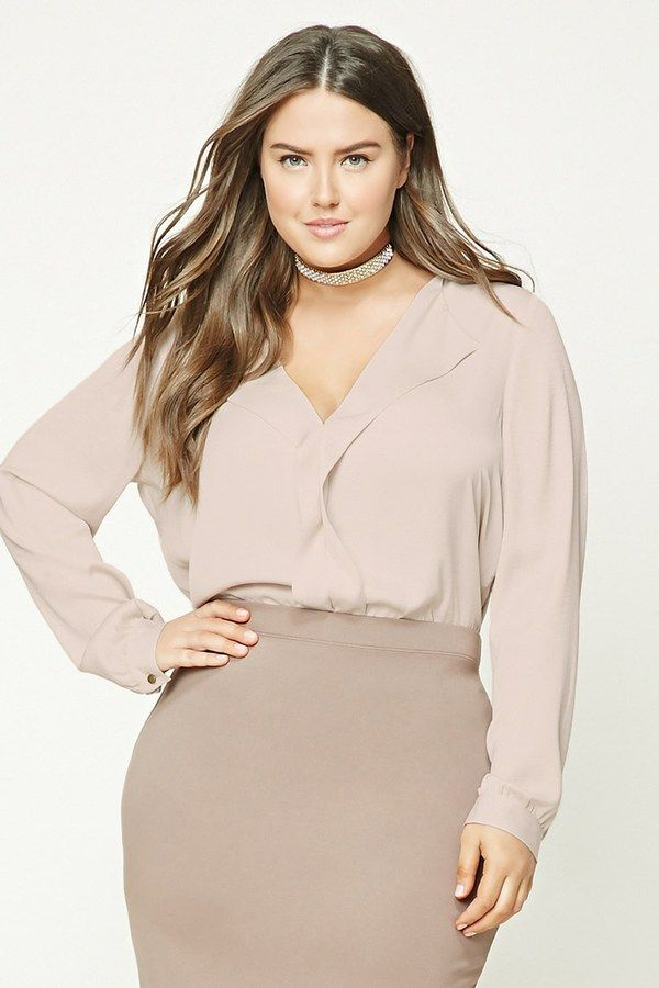 Plus Size Satin Top