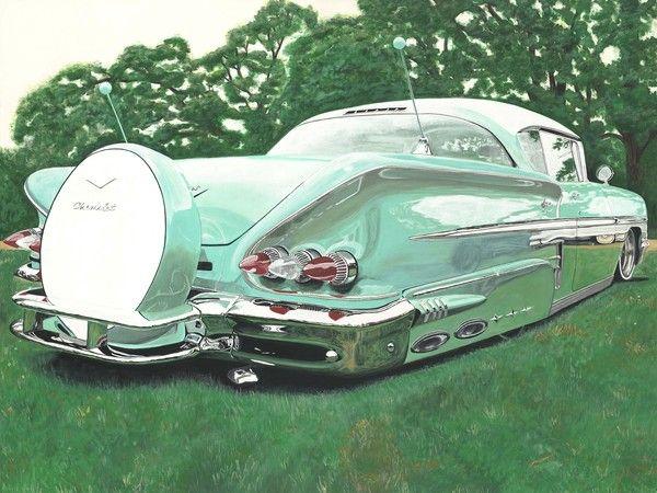 1958 Chevrolet Impala by Catherine Boley  ✮✮ Please feel free to repin ♥ღ www.fashionandclothingblog.com
