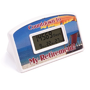 Retirement countdown clock! This is awesome. Set this for any date you want.  Gift idea, gag gift $12.98