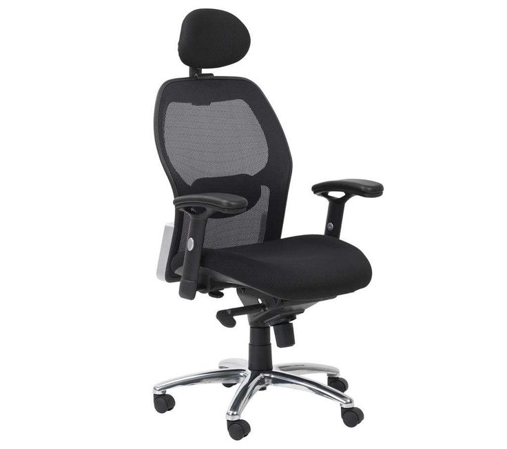 the yavin mesh executive chair boasts an adaptable mesh backrest generously seat lumbar support as well as an adjustable headrest