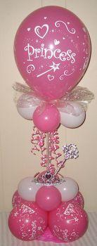 Princess Birthday Balloon Decor