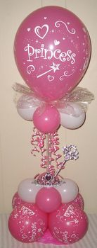 Princess Birthday Balloon Decor