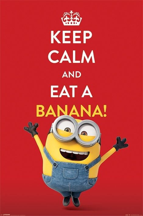 ★ NEW : Poster Keep Calm and Eat a Banana ►►► http://ow.ly/PG8aL   Tous nos produits #Minion ici > http://ow.ly/PG8ga