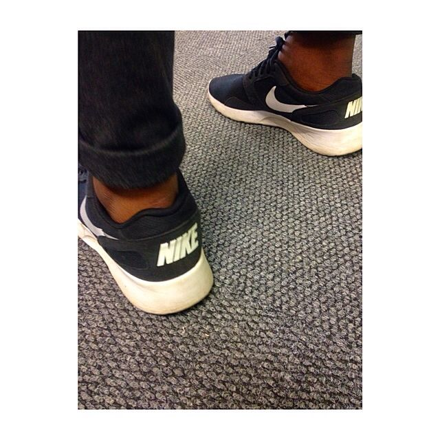 A colleague of mine was rocking these babies at work. She said she wants to be comfortable and that's exactly what Nike sneakers give her.  #Nike #SAStreetStyle #SneakerGame #Comfortability