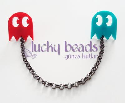 lucky beads by Güneş Kutlar - Broş 501 - Pac-man