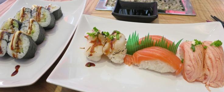 Itamae Sushi / Itamae Maki; Shake, Grilled Shake & Scallop onion Nigiri -  SUSHI SPECIAL - HELSINKI