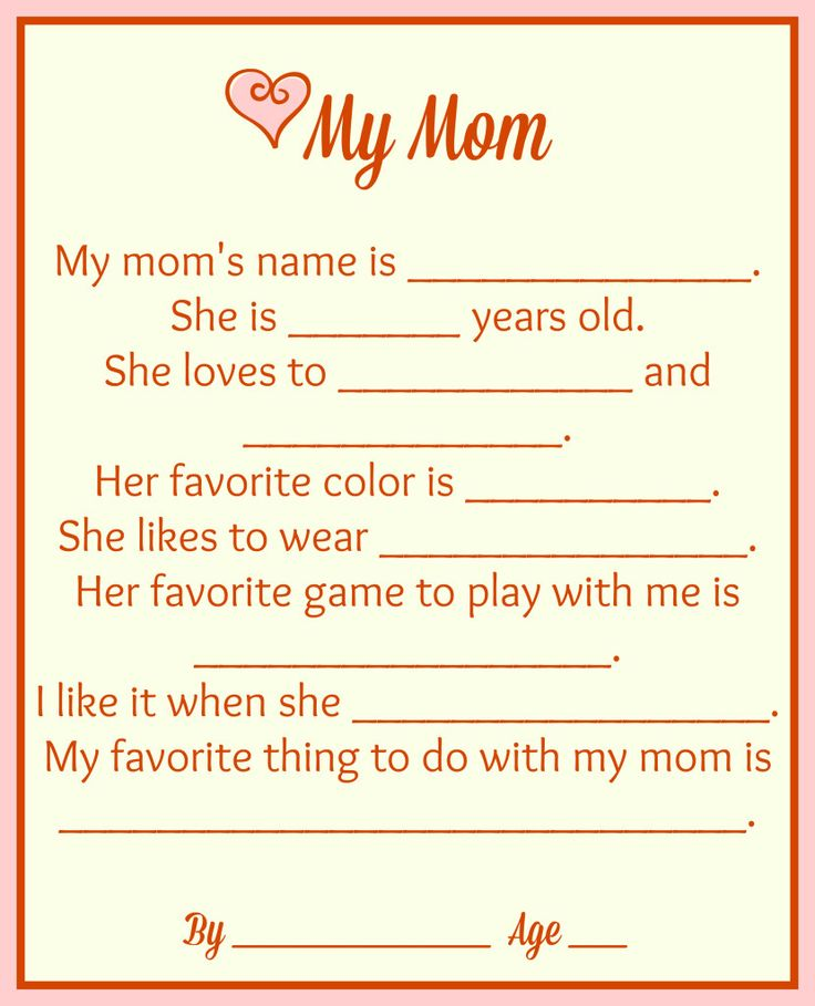 Free Mother's Day Printables {Make It For Mom} |
