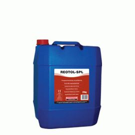 REOTOL-SPL: Concrete superplasticizer (ASTM C-494: Type A, F). When added to ready-mixed concrete, increases workability without decreasing strength. When added during concrete preparation, reduces the amount of water required (reduction of w/c ratio) thus increasing strength. REOTOL-SPL is necessary for preparing high-strength concrete, exposed concrete, pumpable concrete, screeds for underfloor heating systems etc.