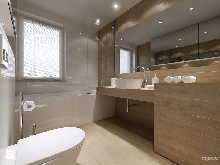 mieszkanie 34m2, Kraków Przewóz - Średnia łazienka, styl nowoczesny - zdjęcie od PROJEKTYW | Architektura Wnętrz & Design
