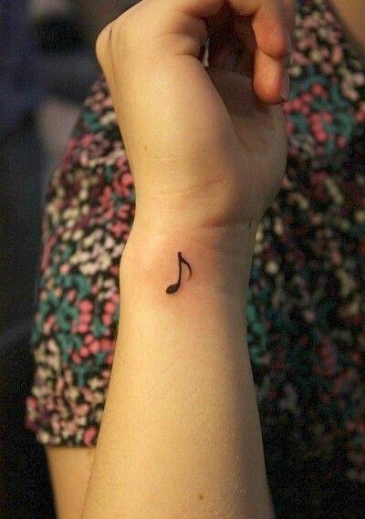 small music note tattoo idea #ink #symbol #girly