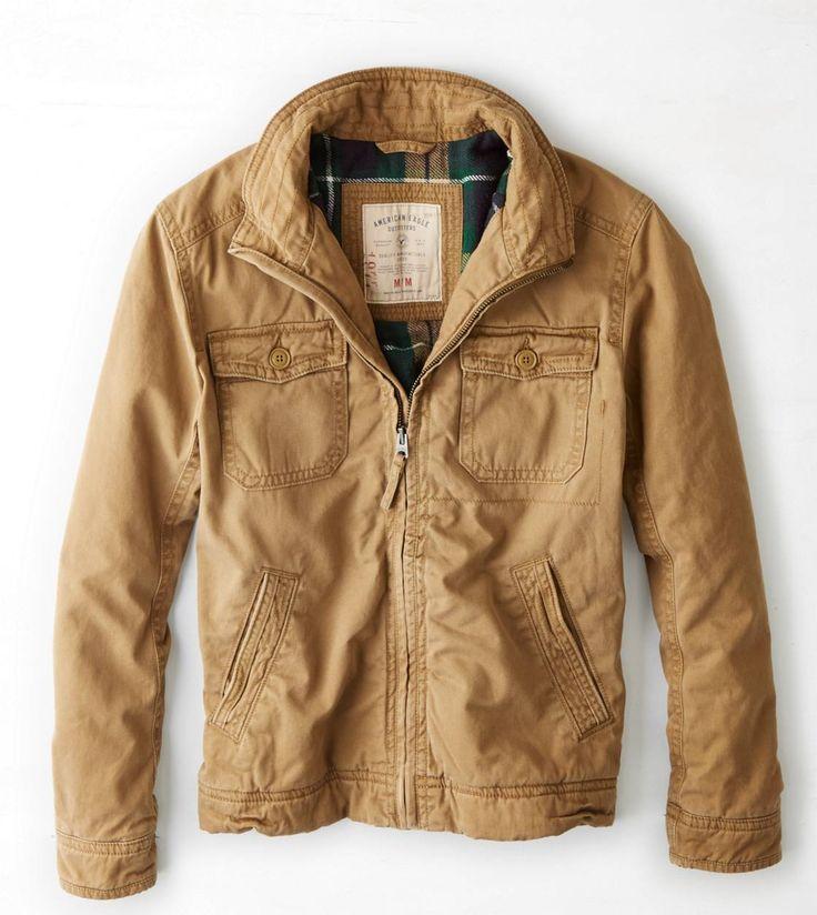 Vintage Work Jacket // Mens Work Jacket // Khaki Mens Jacket // Quilted Work Coat // Vintage Work Coat // L XL B6qPPWt