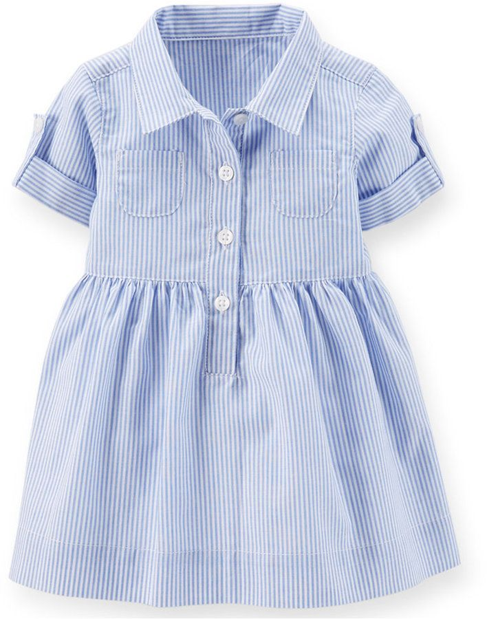 Shop for Baby Girls' Striped Shirtdress by Carter's at ShopStyle. Now for Sold Out.
