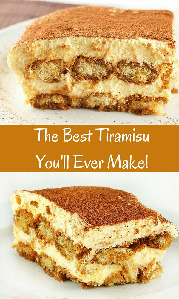 The Best Tiramisu you'll ever make is easier than you think! this classical dessert is amazingly delicious. http://www.askchefdennis.com/2011/04/the-best-tiramisu-you-will-ever-make/