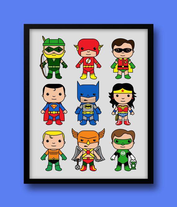 Super Hero inspired wall art Batman nursery Superman by MiniHeroes
