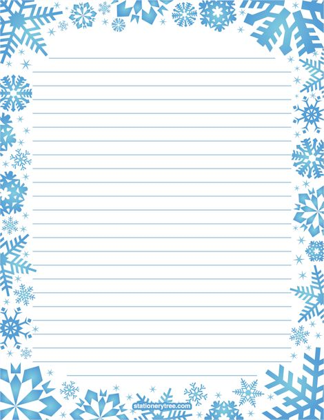 Snowflake Stationery and Writing Paper