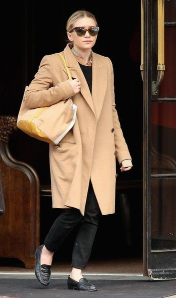 Camel coats never go out of style // Ashley Olsen hopping on the wool coat trend