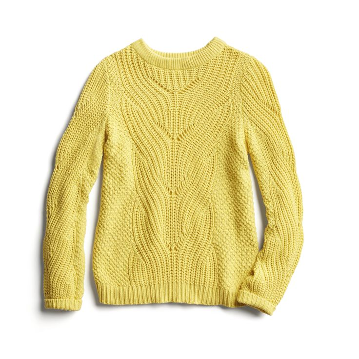 Stitch Fix Spring Stylist Picks: yellow cable knit sweater