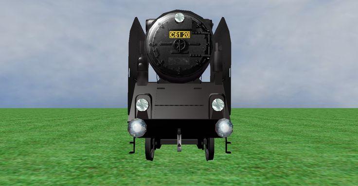JNR C61 steam loco frontview