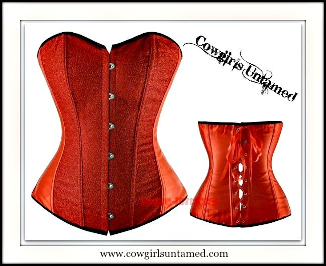 ON SALE CORSET - Red Glitter Lace Up Back Boned Corset Top #corset #top #strapless #sexy #holiday #clothing #party #red #boutique #fashion #clothing #beautiful #onlineshopping