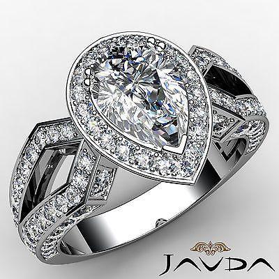 Vintage-Style-Pear-Shape-Diamond-Engagement-Ring-EGL-E-SI1-14k-White-Gold-2-35ct