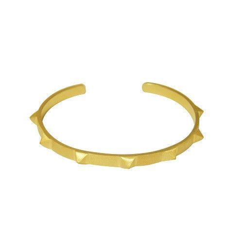 Stine A-Seven Rivets Bracelet-armbånd-sterling-silver-sølv-gold-forgyldt