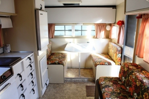 inside our aristocrat trailer 2 (before)