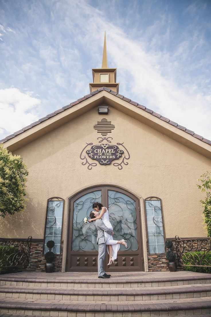 Going to the chapel, gonna get married! Las Vegas wedding chapel pose.