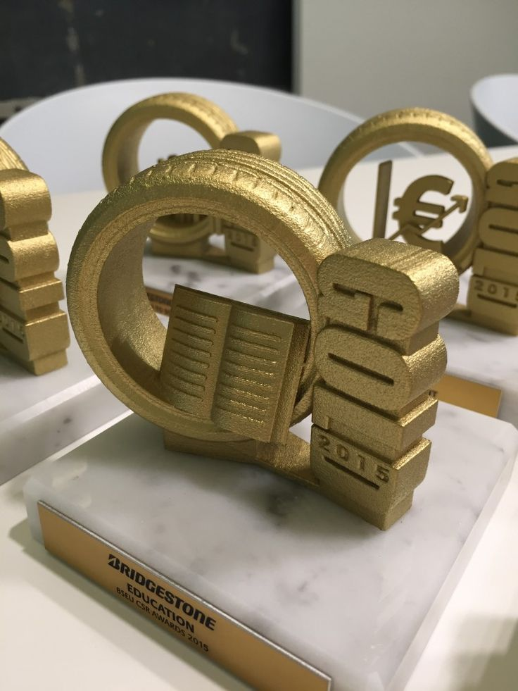 Gemaco - Unides - Bridgestone - corporate 3D printed trophies 5