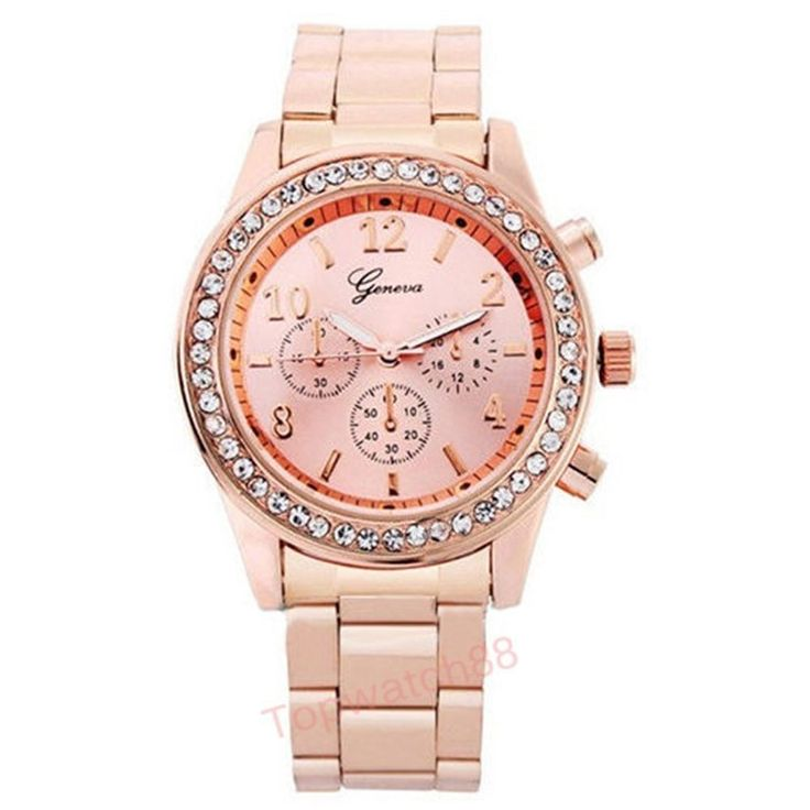 Fashion Geneva Quartz Watch Stainless Steel Ladies Casual Rhinestone Relogio Feminino Women Dress Watch - Port City Jewelers