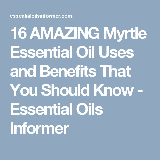 16 AMAZING Myrtle Essential Oil Uses and Benefits That You Should Know - Essential Oils Informer