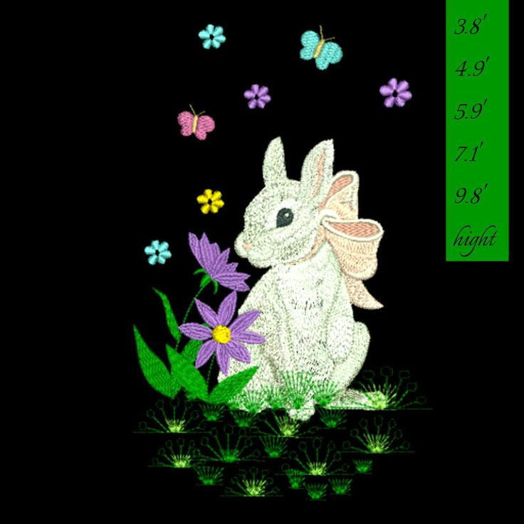 Easter bunny embroidery Design Machine Embroidery Designs Digital Download spring by GretaembroideryShop on Etsy