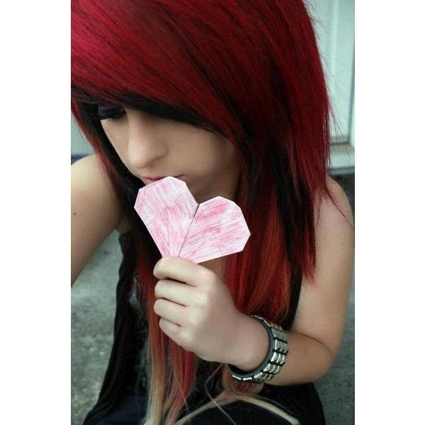 emo/scene hair Scene Hair. ❤ liked on Polyvore featuring hair, people, girls and hair styles