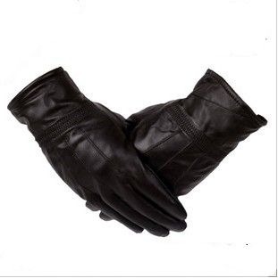 Male sheepskin gloves autumn and winter thermal genuine leather gloves male thick men's fluffy