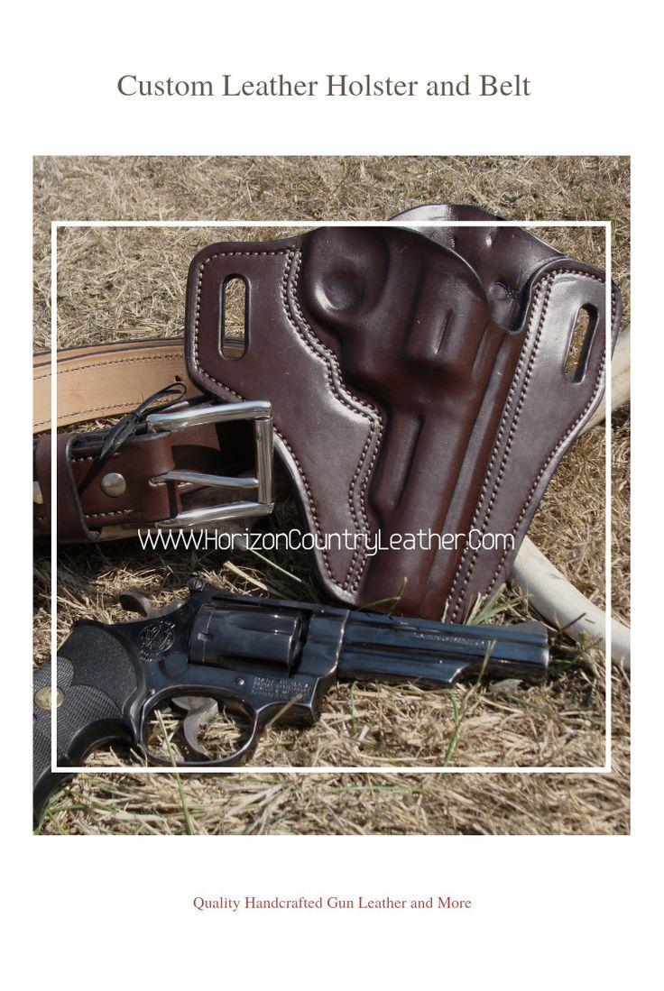 Custom Leather Pancake Holster for a SW Revolver