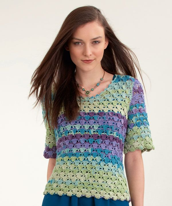 Free Crochet Pattern Short Sleeve Sweater : Short Sleeve Top free crochet pattern Crochet ...