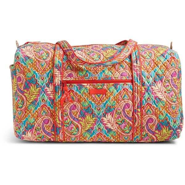 Vera Bradley Large Duffel 2.0 Travel Bag in Paisley in Paradise ($85) ❤ liked on Polyvore featuring bags, luggage and paisley in paradise