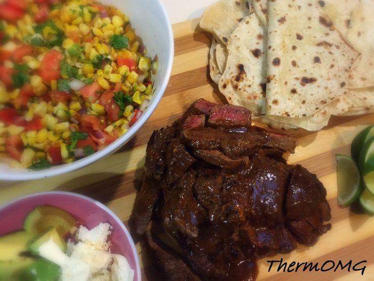 Beef Fajitas and BBQ Corn Salsa — ThermOMG