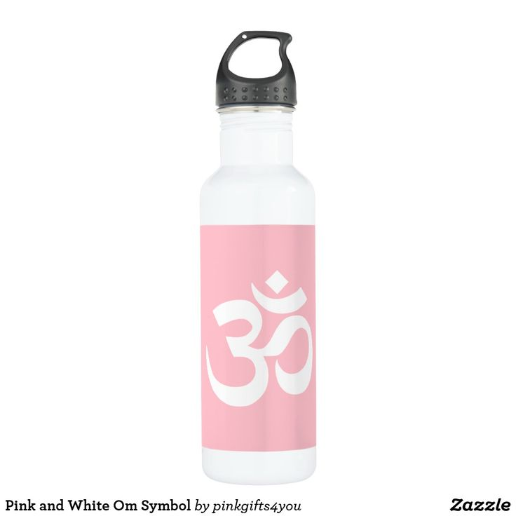 753 best custom yoga water bottles images on pinterest water pink and white om symbol stainless steel water bottle urtaz Image collections