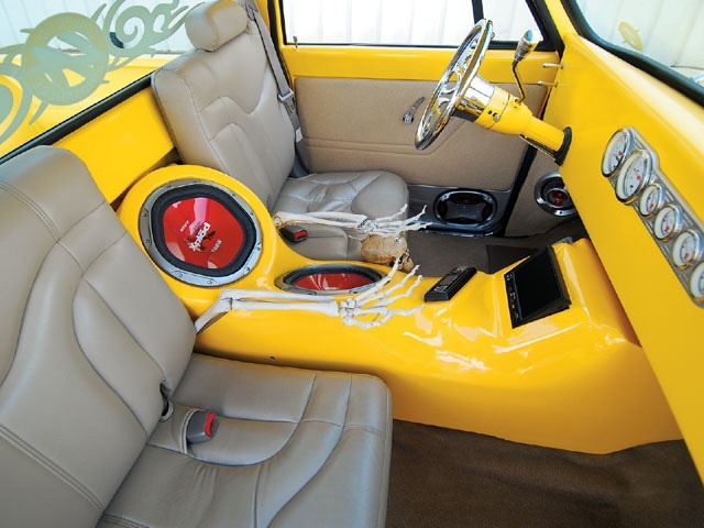 I like the interior in this 1967 C10, minus the skeleton hands.