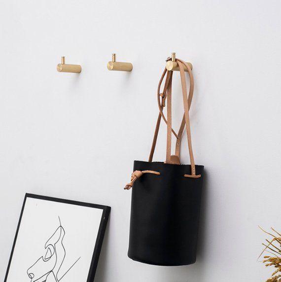 Nordische Kreativitat Messing Wandhaken Dekorative Haken Wandhaken Coat Aufhanger Rack Haken Badezimmer Handt In 2020 Wall Hooks Brass Wall Hook Decorative Hooks