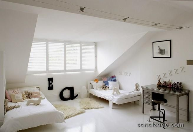 finished attic room with large dormer | çatı katı dekorasyonları