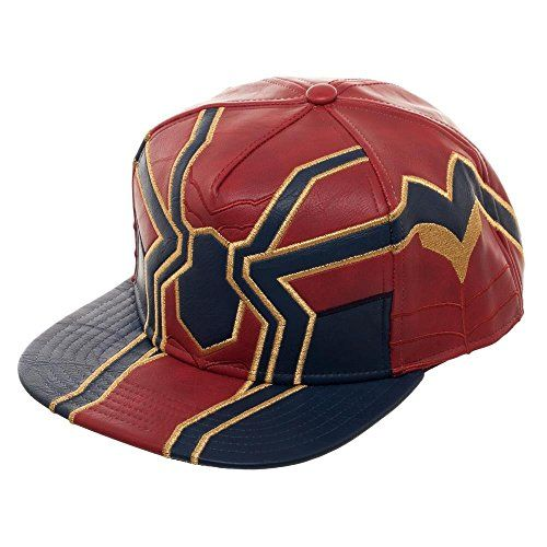 730003c1bce Avengers Infinity War Iron Spider Suit up PU Snapback Hat... https