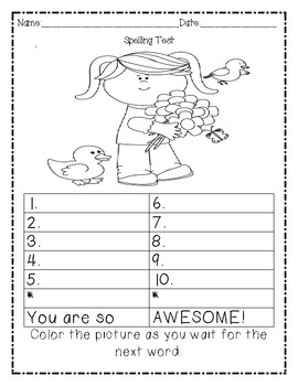 Number Names Worksheets kindergarten spelling test : 1000+ images about Spelling on Pinterest