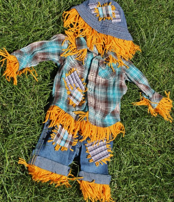 Scarecrow Costume.  Love love love this for boy or girl, kind of sick of every girl wearing a tutu costume for Halloween, this is much cuter!