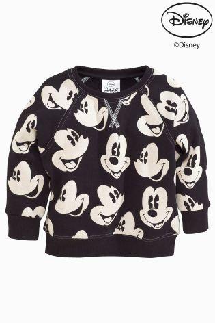 Kopen Geheel bedrukte trui met ronde hals van Mickey Mouse™ (3 mnd-6 jr) nu online op Next: Nederland