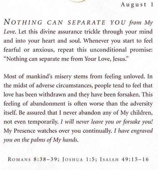 "From the book, ""Jesus Calling"".."