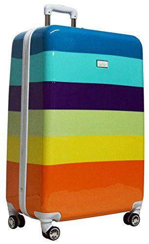 New Trending Luggage: Nicole Miller Rainbow 28 Hard-Sided Luggage Spinner (Aqua). Nicole Miller Rainbow 28″ Hard-Sided Luggage Spinner (Aqua)  Special Offer: $99.85  233 Reviews