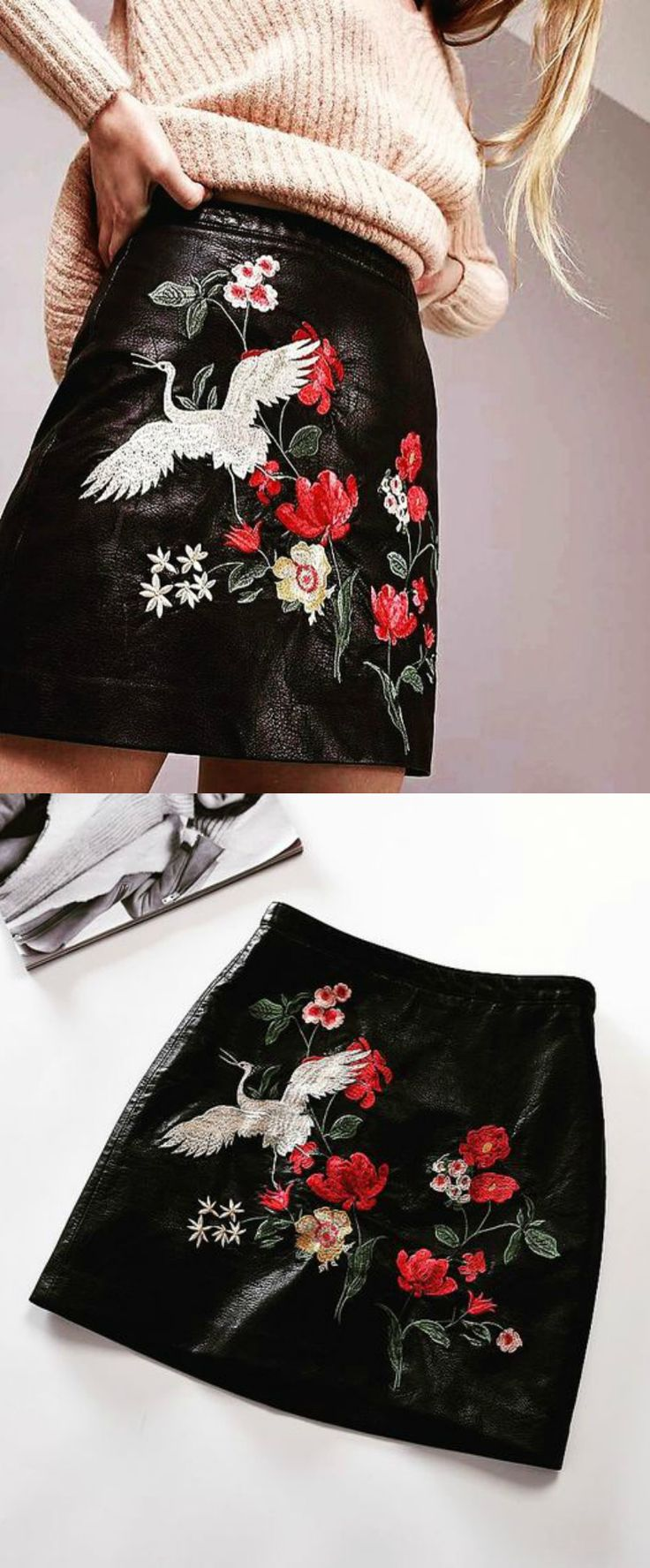 A Gypsy Style Leather Skirt is now available at $45 from Pasaboho. ❤️  This skirt exhibit beautiful embroidery patterns.  Available for Wholesale and Retail. :: boho fashion :: gypsy style :: hippie chic :: boho chic :: outfit ideas :: boho clothing :: free spirit :: fashion trend :: embroidered :: flowers :: floral :: lace :: summer :: fabulous :: love :: street style :: fashion style :: boho style :: bohemian :: modern vintage :: ethnic tribal :: boho bags :: embroidery dress :: skirts